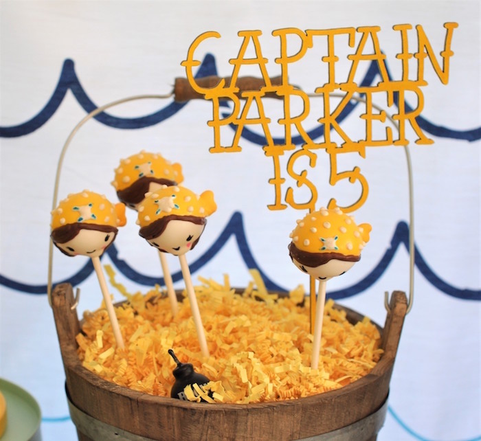 Pirate cake pops from a Girly Pirate Birthday Party on Kara's Party Ideas | KarasPartyIdeas.com (37)