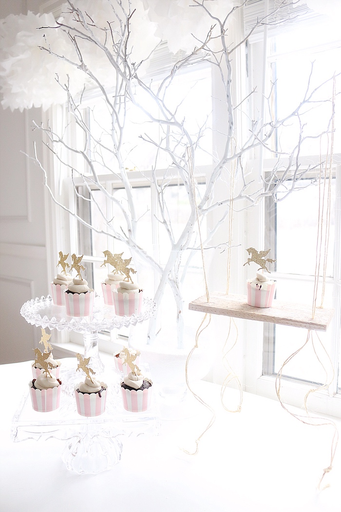 Kara S Party Ideas Girly Winter Wonderland Unicorn Party