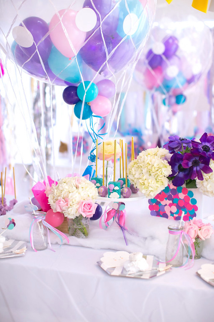 Karas Party Ideas Girly Hot Air Balloon Birthday Party Karas