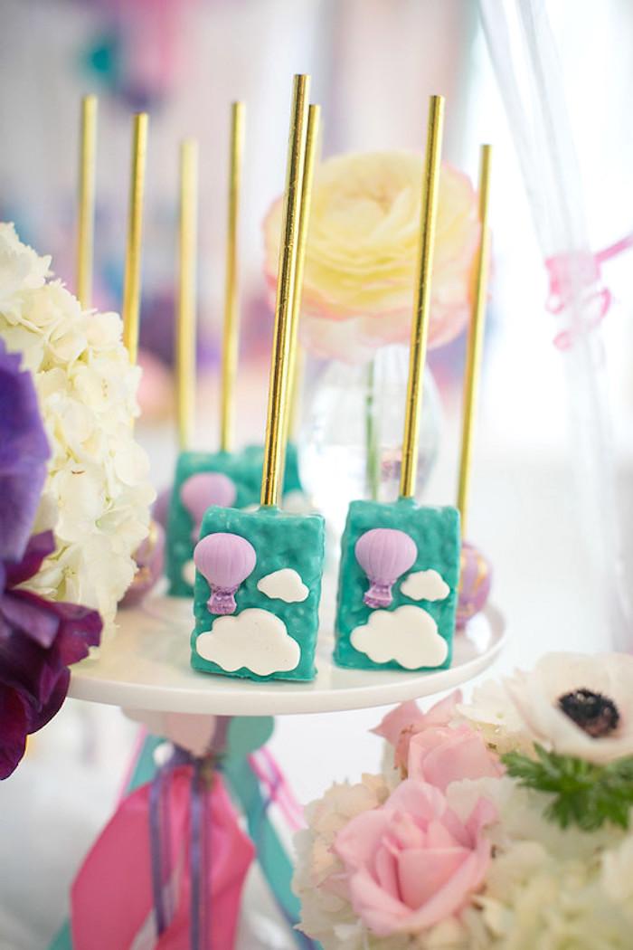 Kara's Party Ideas Girly Hot Air Balloon Birthday Party ...