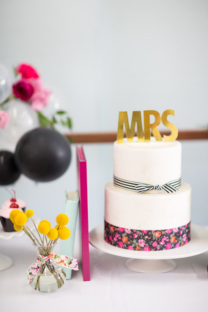 Kate Spade inspired cake from a Kate Spade Inspired Bridal Shower on Kara's Party Ideas | KarasPartyIdeas.com (22)