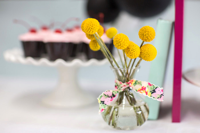 Kate Spade blooms from a Kate Spade Inspired Bridal Shower on Kara's Party Ideas | KarasPartyIdeas.com (18)