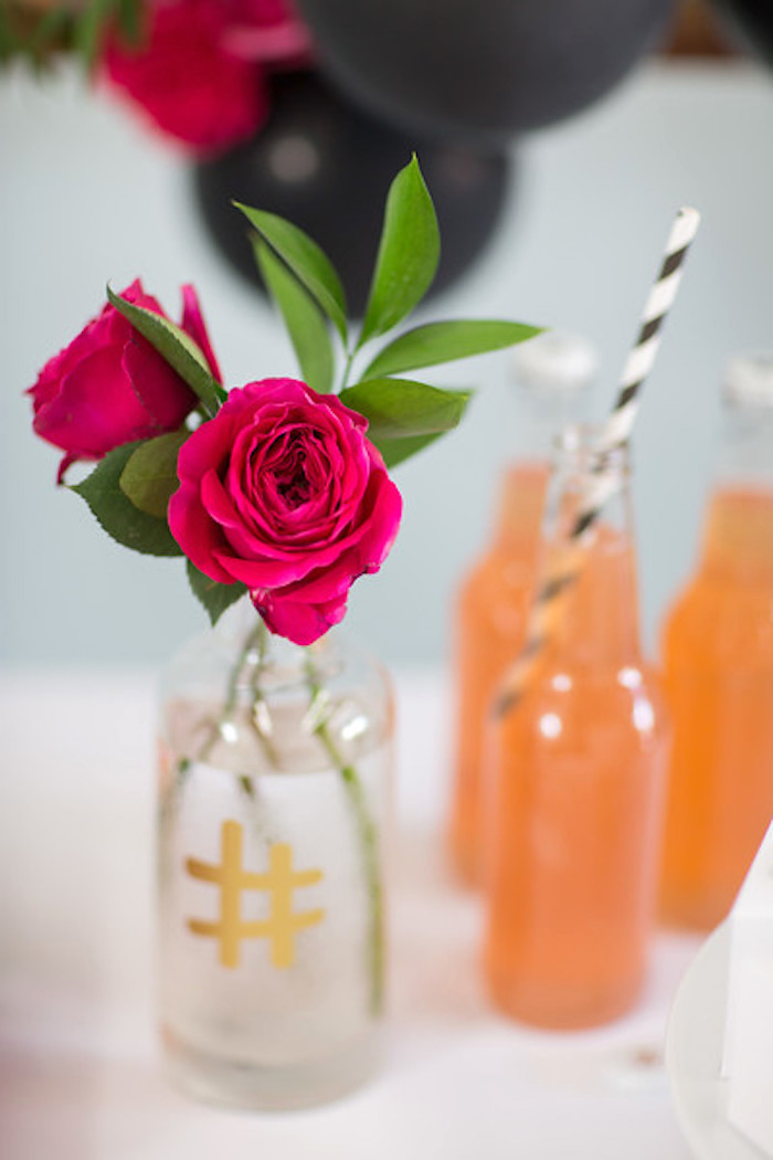 Ecuadorian roses from a Kate Spade Inspired Bridal Shower on Kara's Party Ideas | KarasPartyIdeas.com (13)