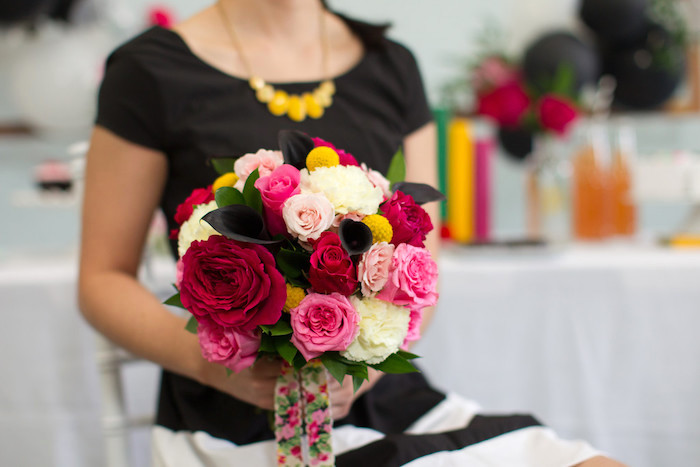 Kate Spade inspired bouquet from a Kate Spade Inspired Bridal Shower on Kara's Party Ideas | KarasPartyIdeas.com (6)