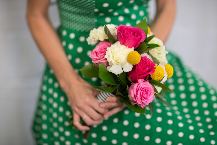 Kate Spade inspired bouquet from a Kate Spade Inspired Bridal Shower on Kara's Party Ideas | KarasPartyIdeas.com (5)