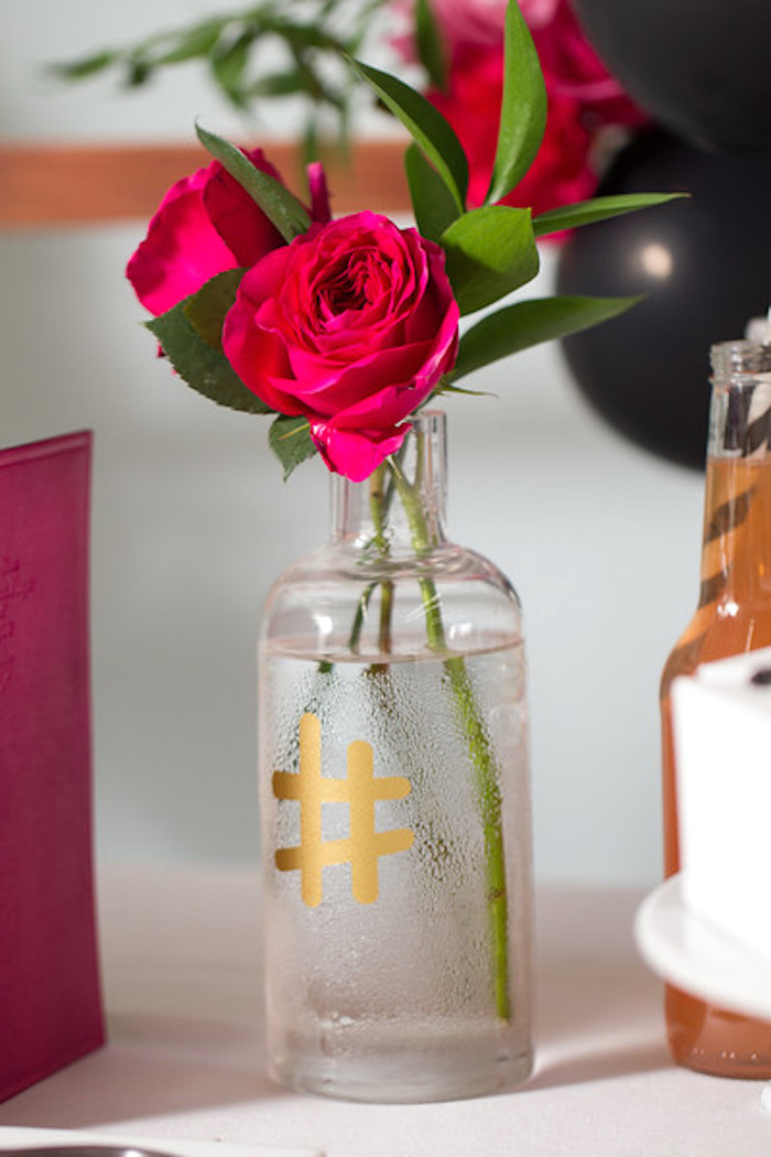 Ecuadorian roses from a Kate Spade Inspired Bridal Shower on Kara's Party Ideas | KarasPartyIdeas.com (26)