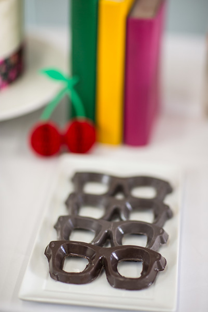 Chocolate glasses from a Kate Spade Inspired Bridal Shower on Kara's Party Ideas | KarasPartyIdeas.com (24)