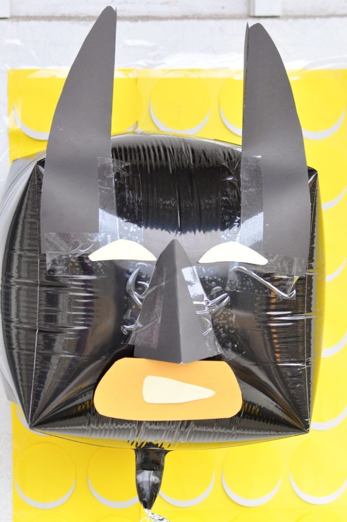 Lego Batman DIY Mylar Ballon. LEGO Batman Themed Birthday Party by Kara's Party Ideas - KarasPartyIdeas.com for Lego Batman Movie