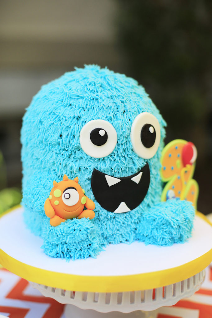 Monster cake from a Little Monster Birthday Party on Kara's Party Ideas | KarasPartyIdeas.com (19)