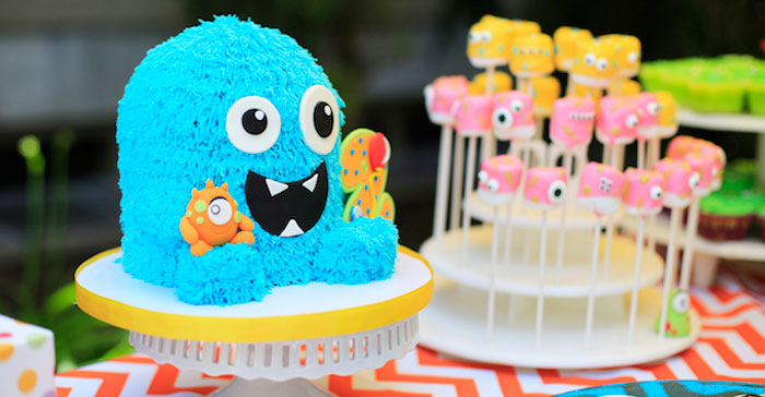Kara S Party Ideas Darling Little Monster Birthday Party
