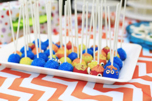 Monster cake pops from a Little Monster Birthday Party on Kara's Party Ideas | KarasPartyIdeas.com (23)