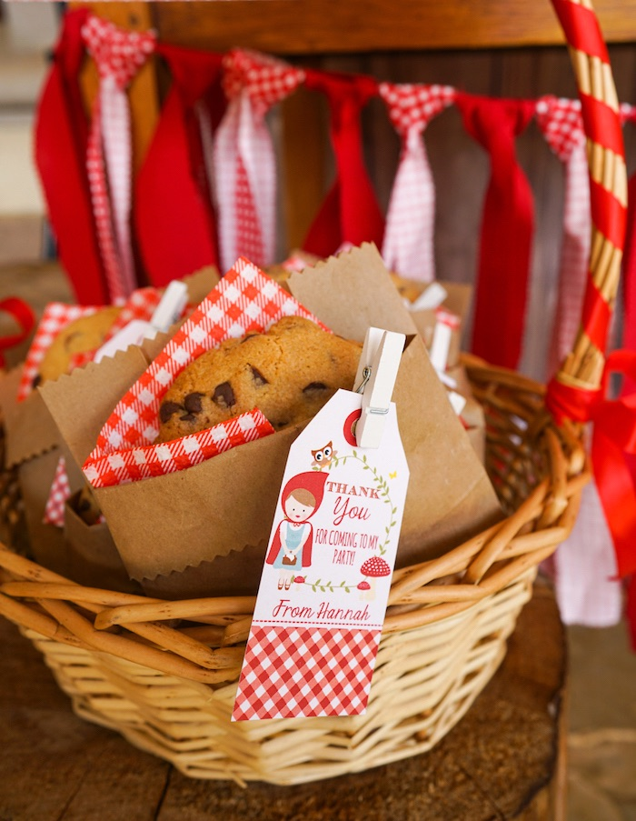 Cookie favors from a Little Red Riding Hood Birthday Party on Kara's Party Ideas | KarasPartyIdeas.com (15)