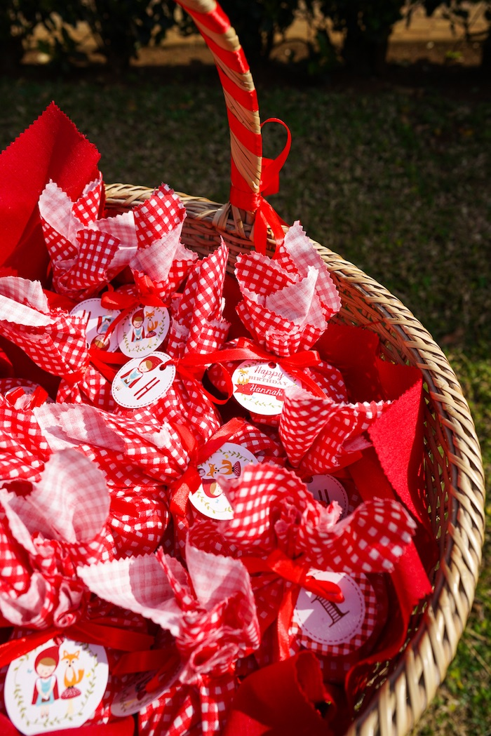 Favors from a Little Red Riding Hood Birthday Party on Kara's Party Ideas | KarasPartyIdeas.com (11)