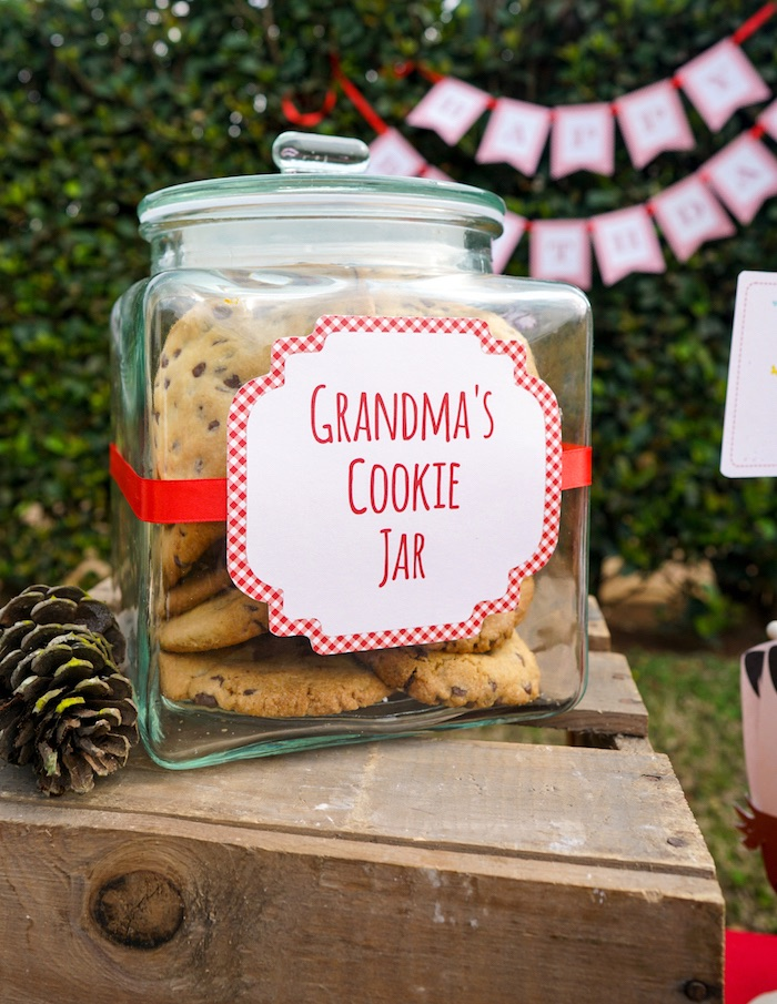 Grandma's Cookie Jar from a Little Red Riding Hood Birthday Party on Kara's Party Ideas | KarasPartyIdeas.com (10)
