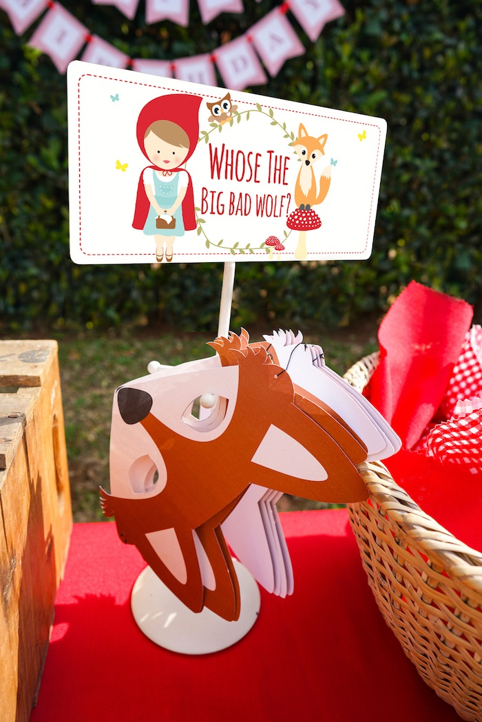 Woodland creature masks from a Little Red Riding Hood Birthday Party on Kara's Party Ideas | KarasPartyIdeas.com (7)