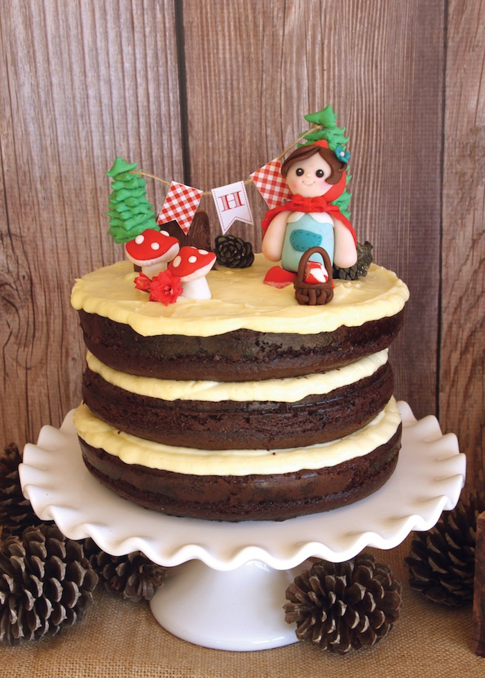 Little Red Riding Hood Cake from a Little Red Riding Hood Birthday Party on Kara's Party Ideas | KarasPartyIdeas.com (25)