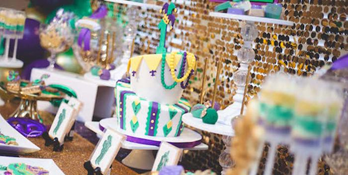 Mardi Gras Themed Birthday Party on Kara's Party Ideas | KarasPartyIdeas.com (3)
