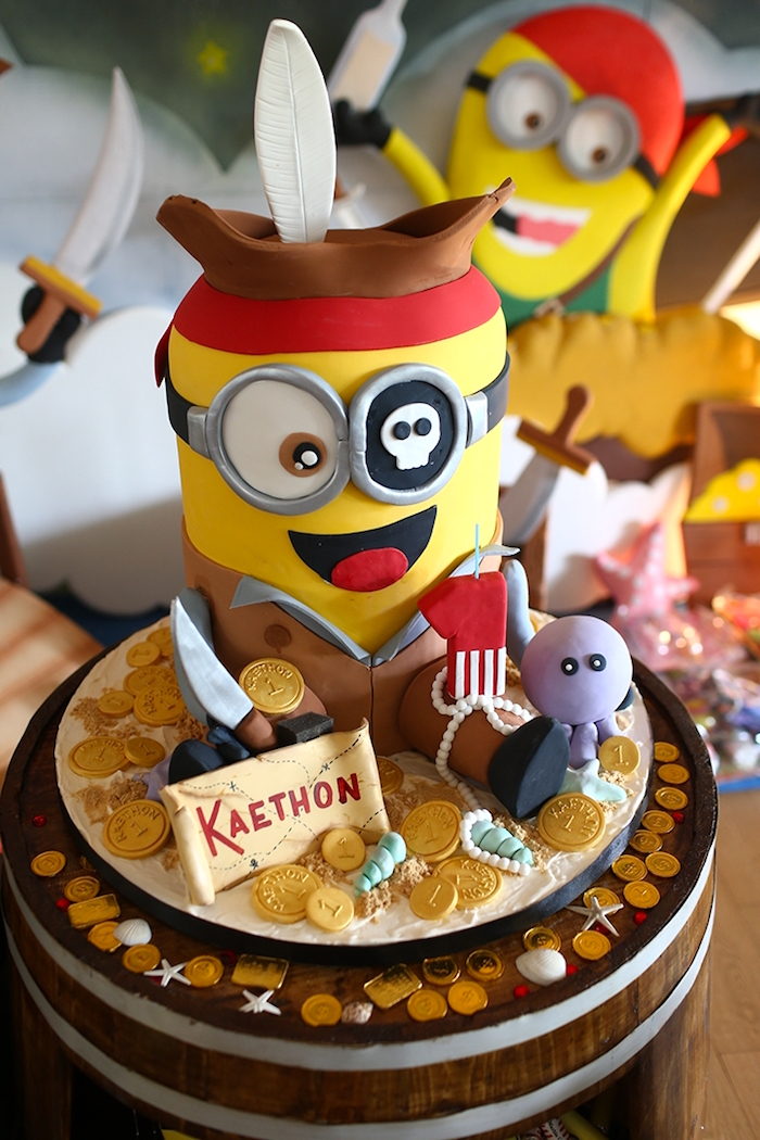 Karas Party Ideas Minion Pirates Birthday Party