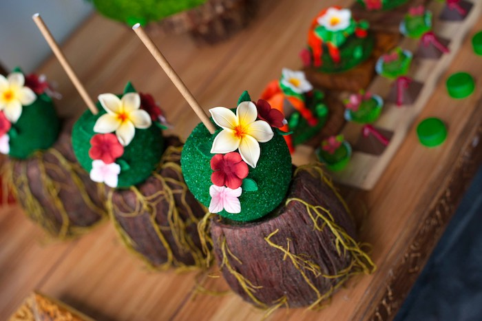 Tropical cake pops from a Moana Inspired Birthday Party on Kara's Party Ideas | KarasPartyIdeas.com (17)