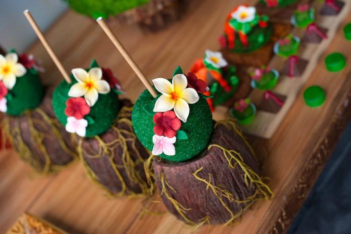 Tropical cake pops from a Moana Inspired Birthday Party on Kara's Party Ideas | KarasPartyIdeas.com (17)