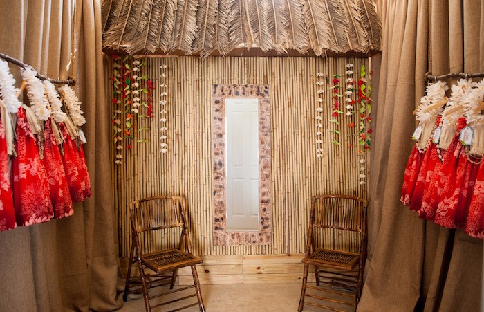 Hut backdrop from a Moana Inspired Birthday Party on Kara's Party Ideas | KarasPartyIdeas.com (26)