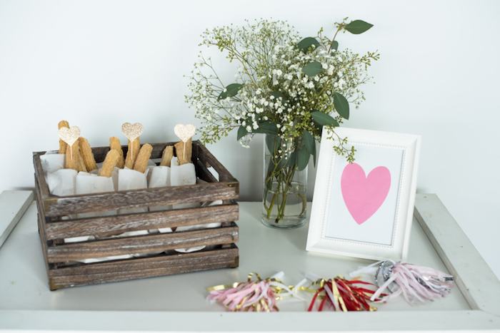 Churro bar from a Mom & Me Valentine's Day Party on Kara's Party Ideas | KarasPartyIdeas.com (6)
