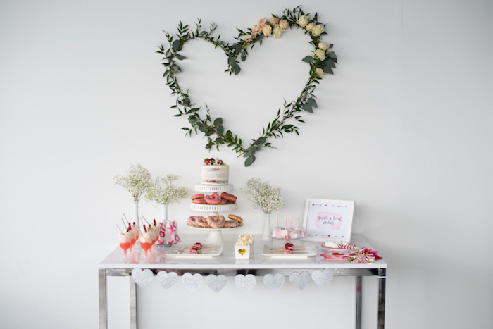 Sweet table from a Mom & Me Valentine's Day Party on Kara's Party Ideas | KarasPartyIdeas.com (19)