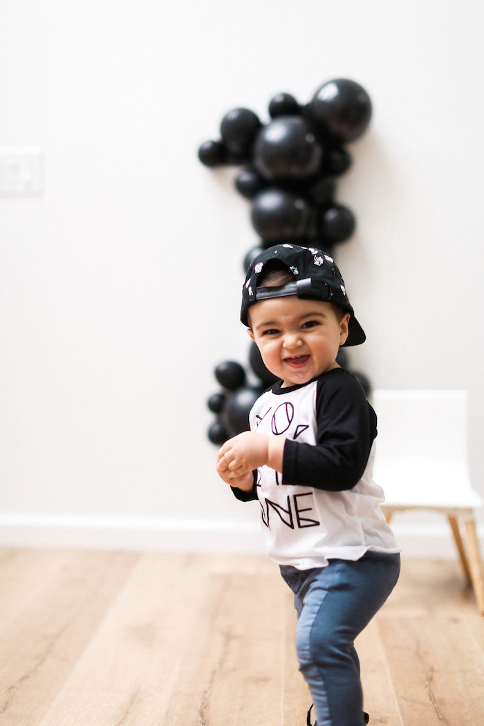 Monochromatic First Birthday Photo Shoot on Kara's Party Ideas | KarasPartyIdeas.com (10)