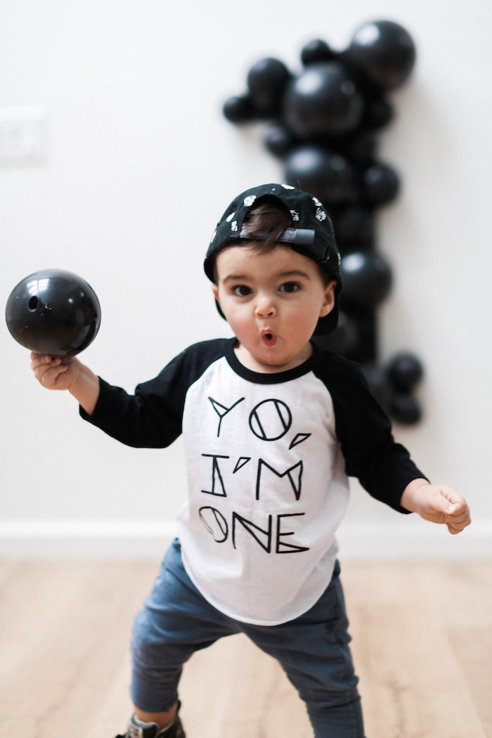 Monochromatic First Birthday Photo Shoot on Kara's Party Ideas | KarasPartyIdeas.com (8)