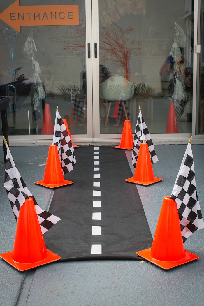 Roadway entrance from a Monster Truck Birthday Party on Kara's Party Ideas | KarasPartyIdeas.com (21)