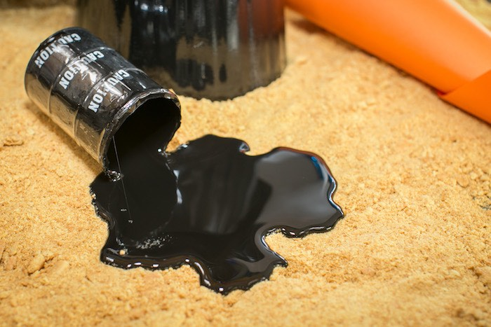 Spilled oil decoration from a Monster Truck Birthday Party on Kara's Party Ideas | KarasPartyIdeas.com (20)