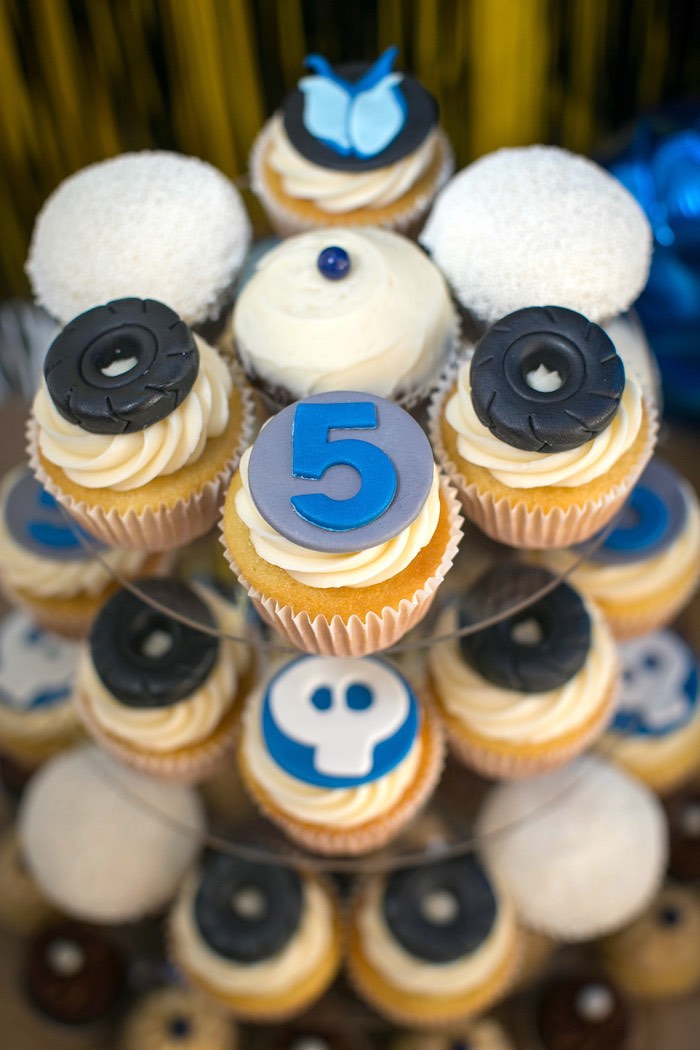 Tire-topped cupcakes from a Monster Truck Birthday Party on Kara's Party Ideas | KarasPartyIdeas.com (15)