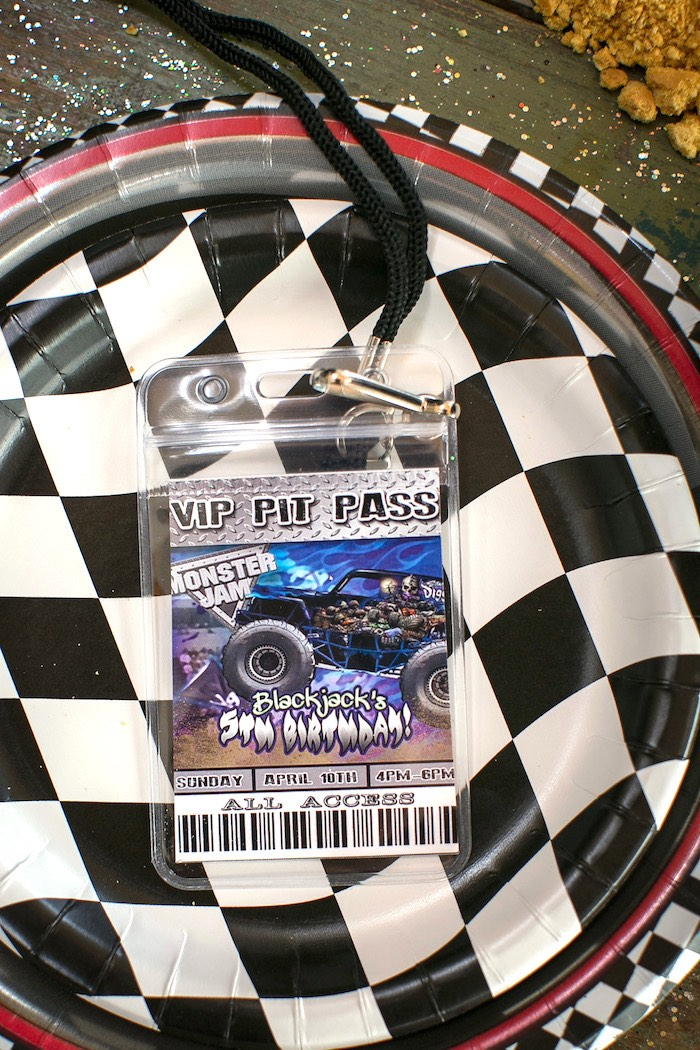 Place setting + VIP Pass from a Monster Truck Birthday Party on Kara's Party Ideas | KarasPartyIdeas.com (33)