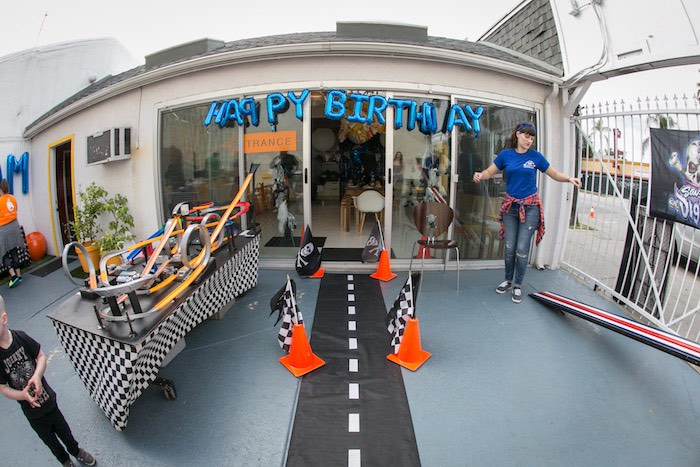 Roadway entrance from a Monster Truck Birthday Party on Kara's Party Ideas | KarasPartyIdeas.com (13)