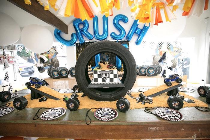 Kara's Party Ideas Monster Truck Birthday Party   Kara's ...