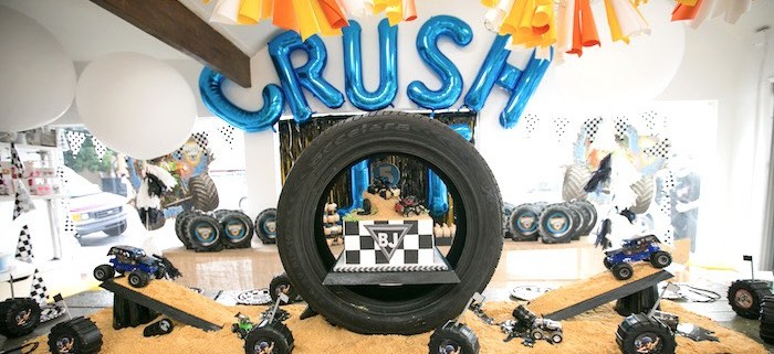 Karas Party Ideas Monster Truck Birthday Party Karas