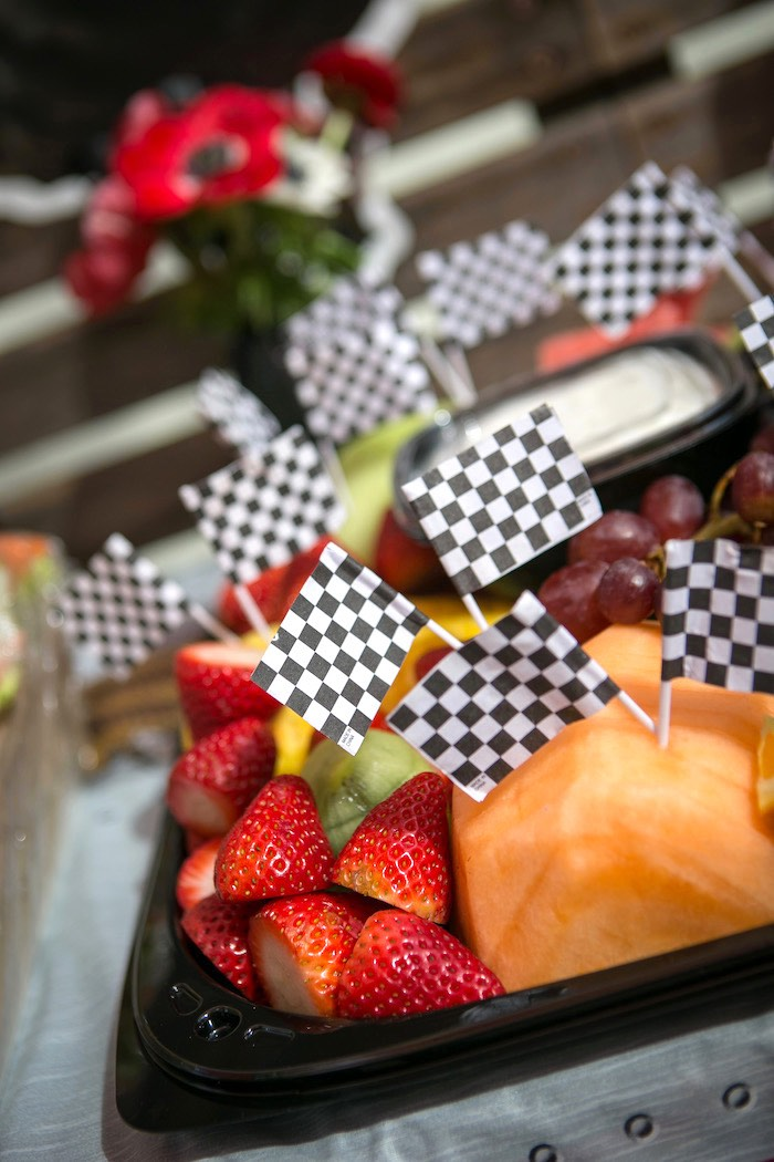 Fruit and cheese platter from a Monster Truck Birthday Party on Kara's Party Ideas | KarasPartyIdeas.com (28)