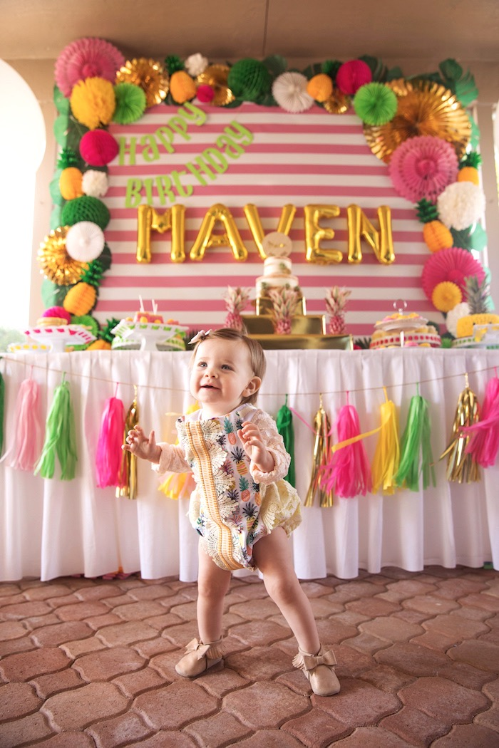 Party Like a Pineapple Tropical Birthday Party on Kara's Party Ideas | KarasPartyIdeas.com (23)