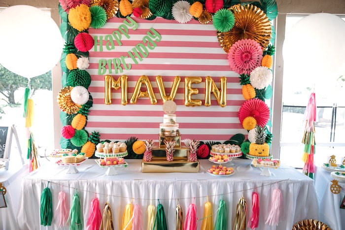 Karas Party Ideas Party Like a Pineapple Tropical Birthday Party