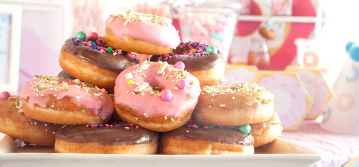 Pastel Pink & Blue Donut Birthday Party on Kara's Party Ideas | KarasPartyIdeas.com (3)