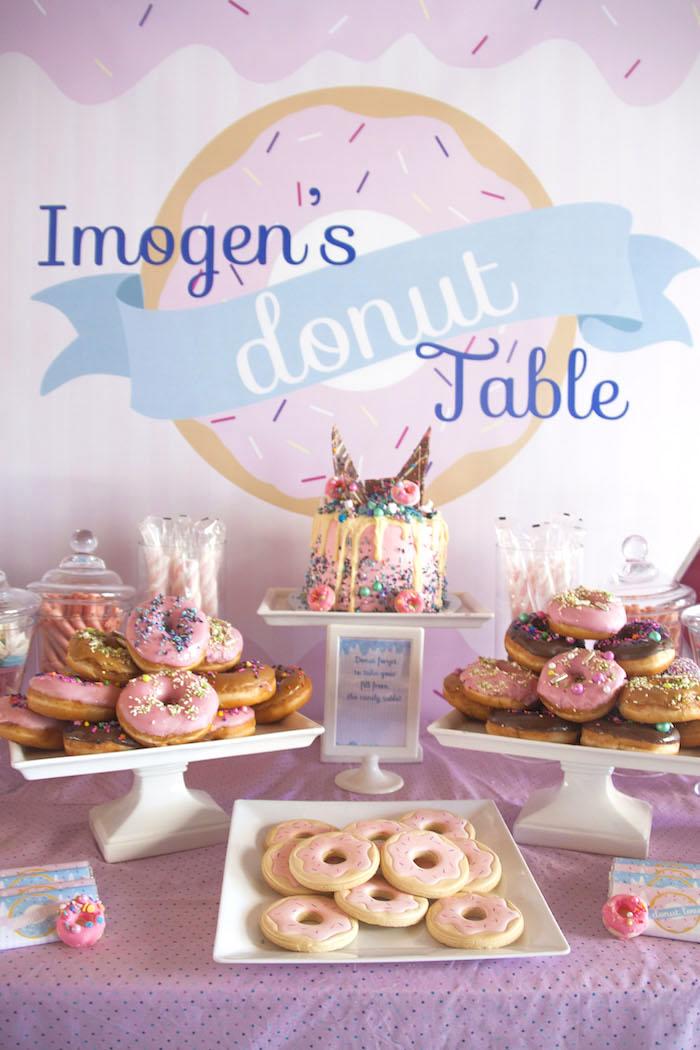 Pastel Pink & Blue Donut Birthday Party on Kara's Party Ideas | KarasPartyIdeas.com (14)
