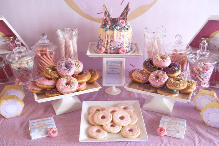 Kara S Party Ideas Pastel Pink Amp Blue Donut Birthday Party