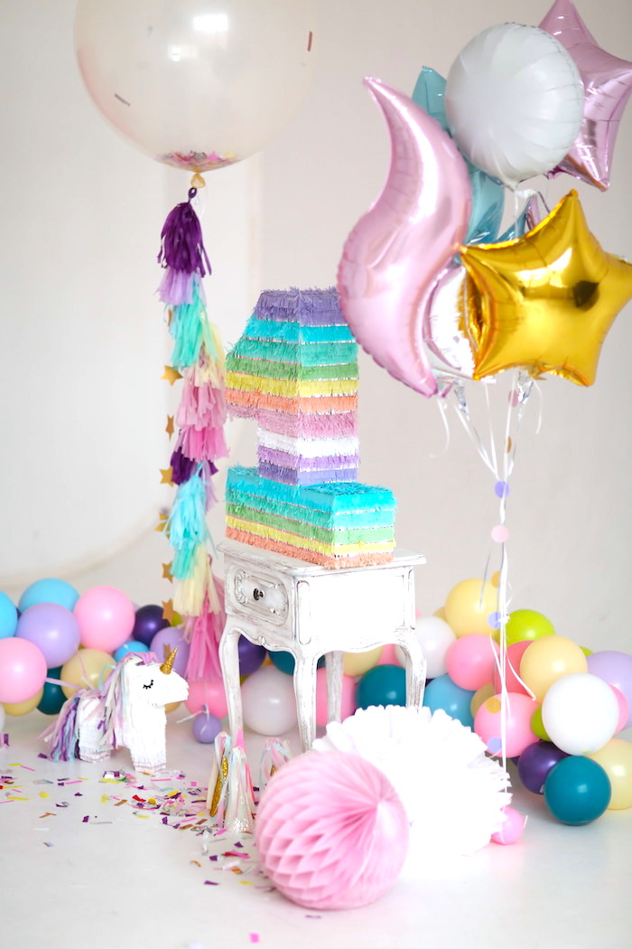 Party Detail From A Pastel Unicorn Birthday On Karas Ideas