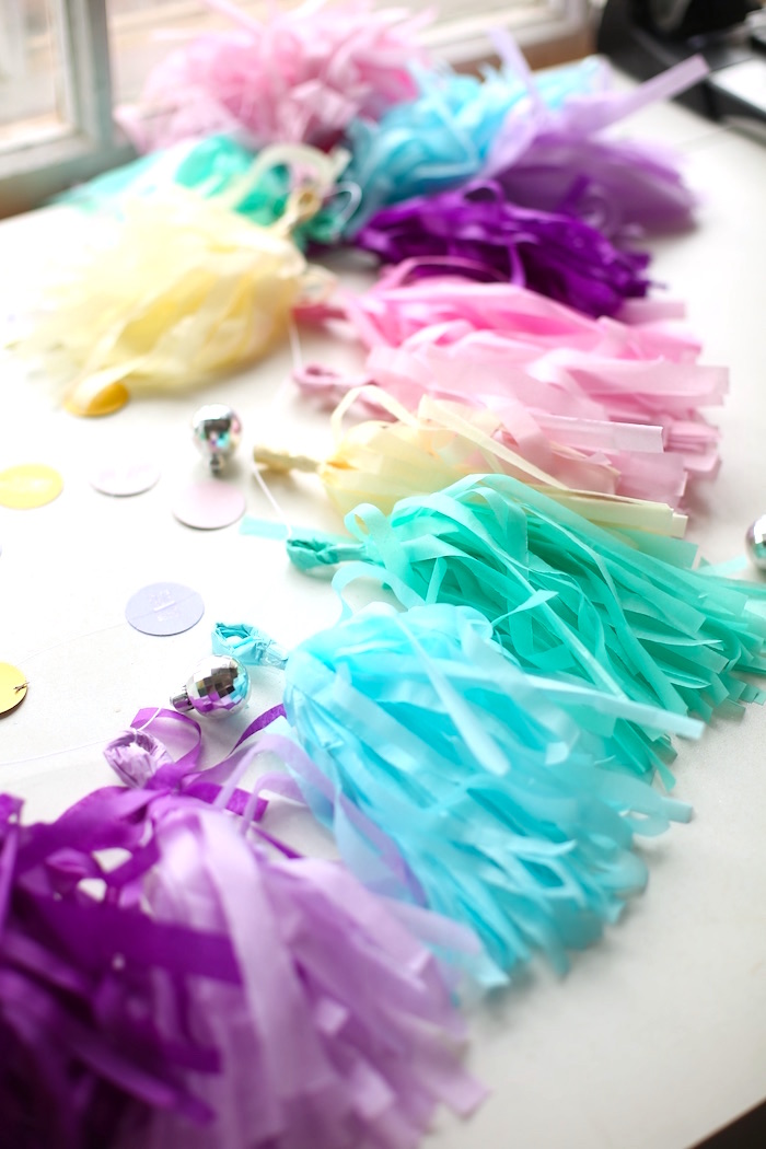 Pastel tassel garland from a Pastel Unicorn Birthday Party on Kara's Party Ideas | KarasPartyIdeas.com (5)