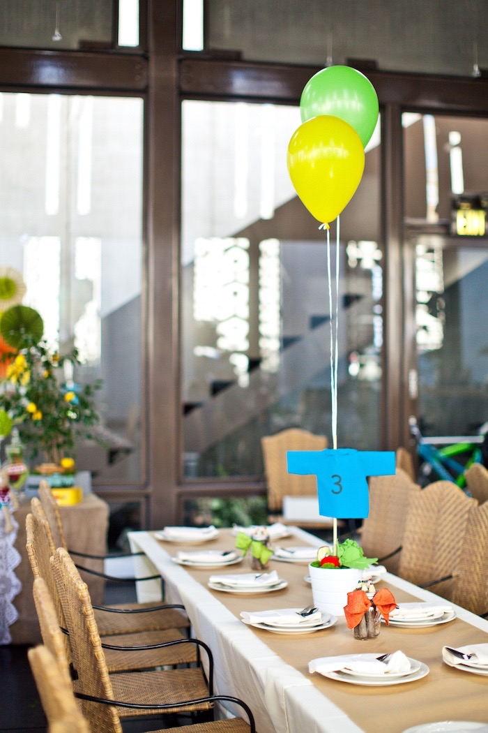 Guest table from a Peter Rabbit Birthday Party on Kara's Party Ideas | KarasPartyIdeas.com (11)