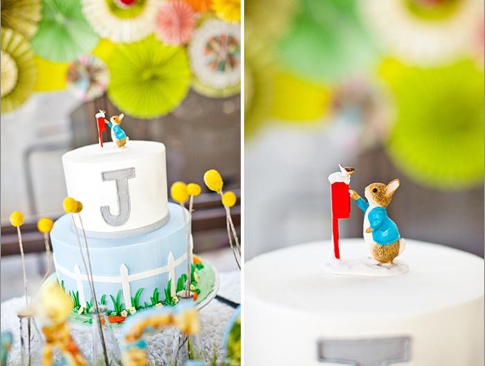 Peter Rabbit Cake from a Peter Rabbit Birthday Party on Kara's Party Ideas | KarasPartyIdeas.com (19)