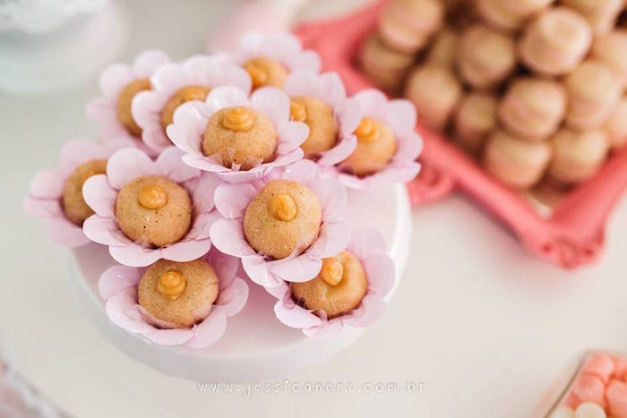Flower sweets from a Pink Ballerina Birthday Party on Kara's Party Ideas | KarasPartyIdeas.com (29)