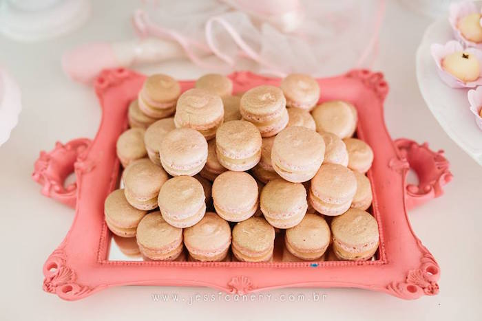 Macarons from a Pink Ballerina Birthday Party on Kara's Party Ideas | KarasPartyIdeas.com (27)