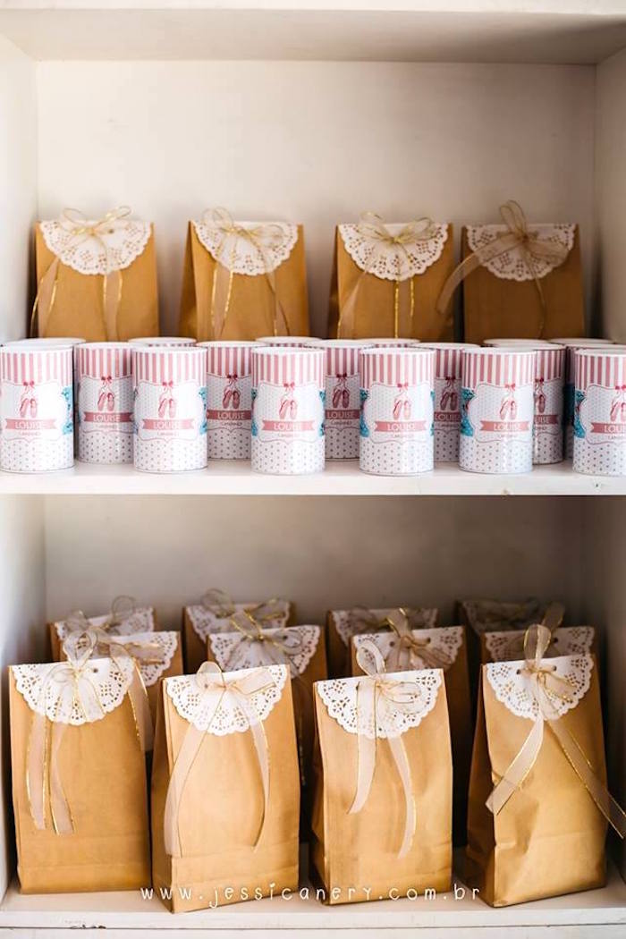 Favors from a Pink Ballerina Birthday Party on Kara's Party Ideas | KarasPartyIdeas.com (26)