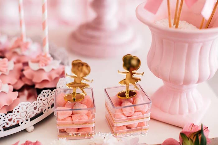 Mini plastic ballerina favor boxes from a Pink Ballerina Birthday Party on Kara's Party Ideas | KarasPartyIdeas.com (24)